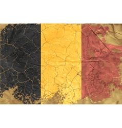 Vintage belgian flag vector