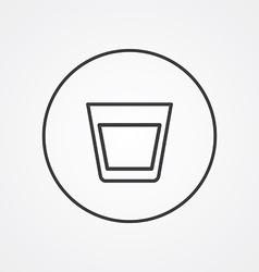 vodka outline symbol dark on white background logo vector image