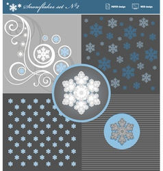 Snowflakes set 2 vector