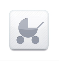 White pram icon eps10 easy to edit vector