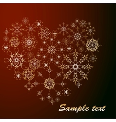 Snowflakes heart vector