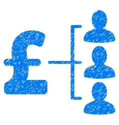 Pound recipients grainy texture icon vector