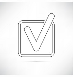 Checkbox icon outline vector