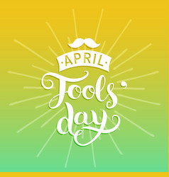 Happy fools day greeting card vector