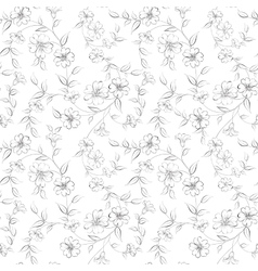 Elegant monochrome flowers fabric vector