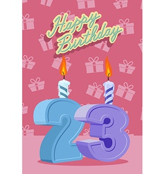 23 years celebration 23nd happy birthday vector image