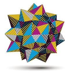 Digital 3d striped abstraction geometric polygonal vector