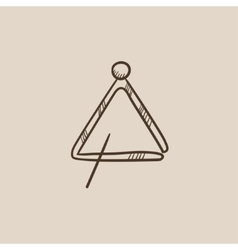 Triangle sketch icon vector