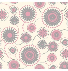 Abstract flowers seamless background vector image vector image