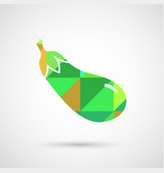 an isolated eggplant vector image vector image