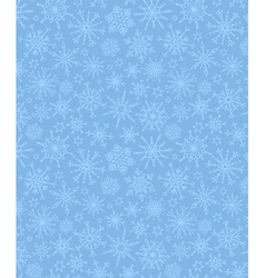 Blue pattern of snowflakes vector image vector image