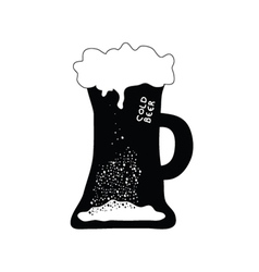 cold beer art vector image