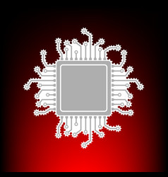 Cpu microprocessor postage stamp or vector