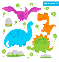 Dinosaurus set vector