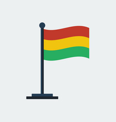 flag of bolivia flag stand vector image vector image