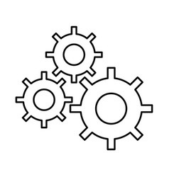 Gear machine settings icon vector