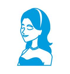happy woman wedding portrait bride character vector image