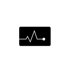 Heartbeat solid icon medical and pulse sign vector