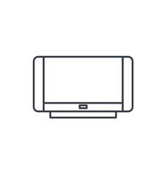 High resolution tv thin line icon linear vector