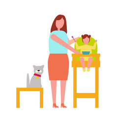 Icon of mother with child vector