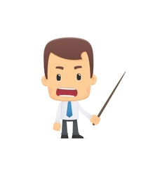 manager in various poses vector image