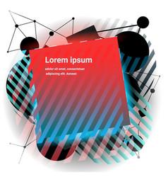 modern minimalism style banner vector image vector image