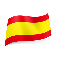 National flag of spain wide yellow stripe between vector