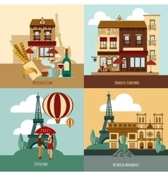 Paris Touristic Set vector image
