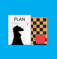 plan business strategy vector image vector image