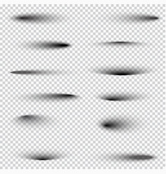 set of blurred shadows templates vector image