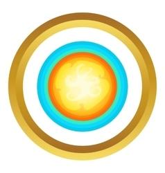 Sun in the sky icon vector
