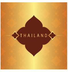 Thailand frame thai design copper background vector