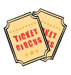 Ticket icon cartoon vector