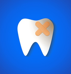 tooth decay vector image vector image