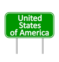 United states of america road sign vector