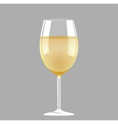 White wine glass vector