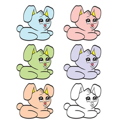 Cute cartoon baby rabbit vector image