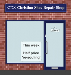 Christian shoe repairs vector