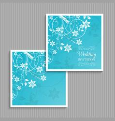 Decorative floral wedding invitation vector