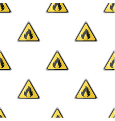 Sign of flammabilityoil single icon in cartoon vector