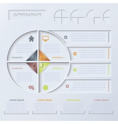 Circle infographic design template vector