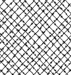Barbed wire woven vector