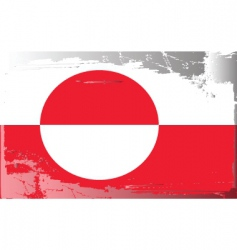 Greenland national flag vector