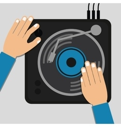 Dj electronic music party vector