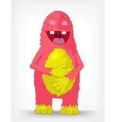 Funny monster laughing vector