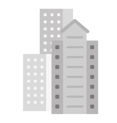 Residential or office buildings icon vector