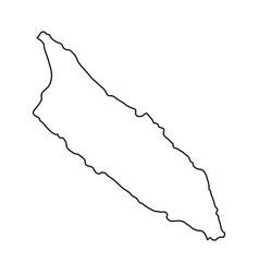 aruba map of black contour curves on white vector image