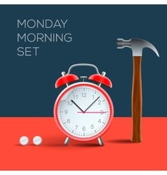 Concept - I hate monday morning vector image