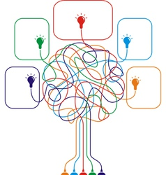 Concept of colorful tree with bulbs vector