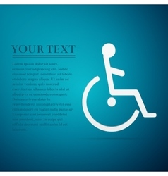 Disabled handicap flat icon on blue background vector